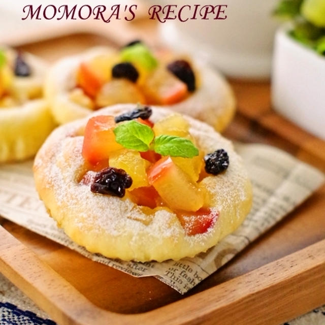 卵・オイル不使用♪ホットケーキミックスで簡単30分♡ふわふわの リンゴ ヨーグルトパン/お菓子な アップル パン