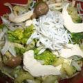 レシピブログ 春の食材で作る早ゆでパスタレシピ②菜花とシメジのサラダパスタ