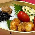 【お弁当】4日分/コロコロ海老フライ/豚肉と茄子のピリ辛炒め/チキンチャップ/鯖の照り焼き