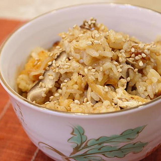 11/11/18 味噌バター風味のきのことキムチの炊き込みご飯