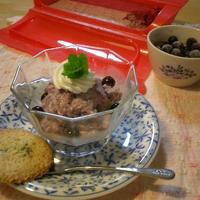 ルクエで作るヘルシーブルーベリーレアチーズケーキ