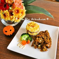 お花と料理で楽しむハロウィン♪