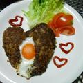 バレンタインにハートのハンバーグ!