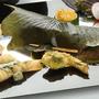 たまプラーザ 和食 GW 端午の節句お祝い 柏餅風すずき包き 山菜の天ぷら と田楽を添えて