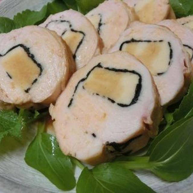 しっとりふっくらボリュームアップ♪ 鶏むねの高野豆腐巻き焼き