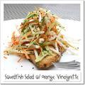 カジキマグロのソテー、サラダ仕立て