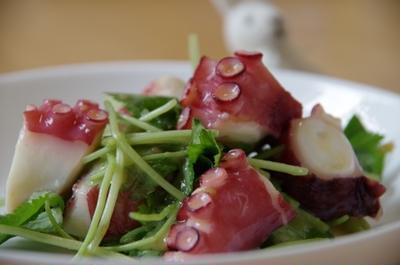 タコと水菜のからし酢味噌☆
