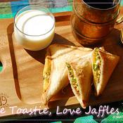 ガパオの風味の卵と水菜のホットサンド