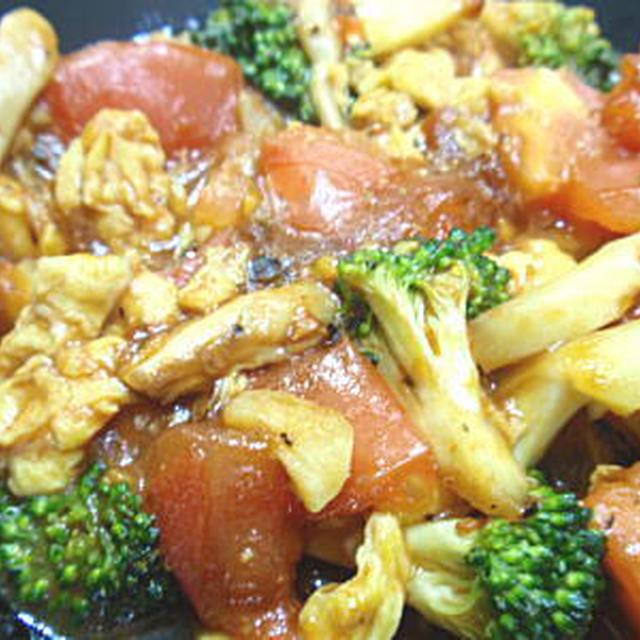 トマトとブロッコリーのオイスターソース炒め(レシピ付)