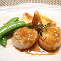 塩ジャン♡帆立のステーキ春野菜添え by とまとママさん