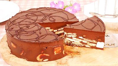 生チョコビスケット マシュマロケーキ