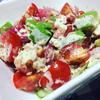 海藻たっぷりの、トマトと胡瓜、アボカドの粒マスタードマヨドレッシング