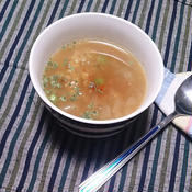 むきえんどうとレンズ豆のスープ