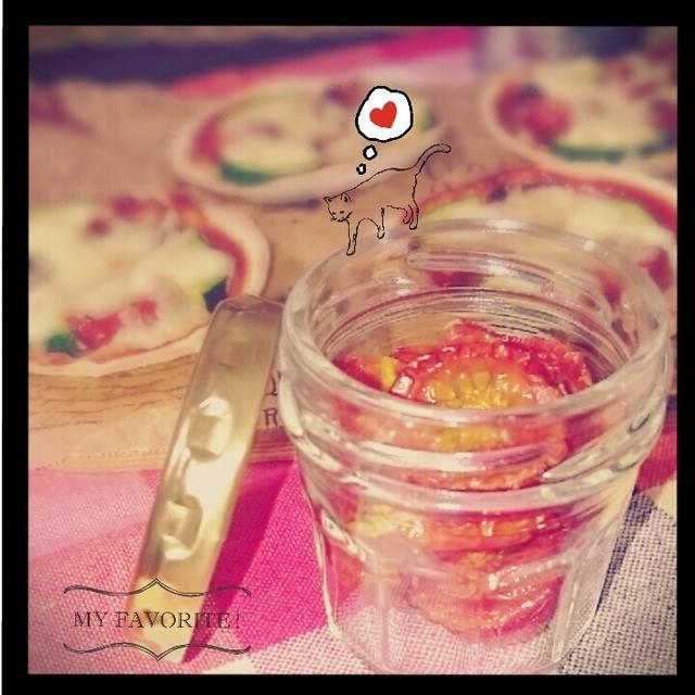 【うちごはん】手作りセミドライトマトで!ささみとズッキーニのセミドライトマトソース煮
