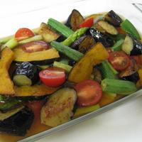 夏野菜の揚げ焼きびたし