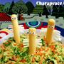 ニョロニョロのコールスローサラダ