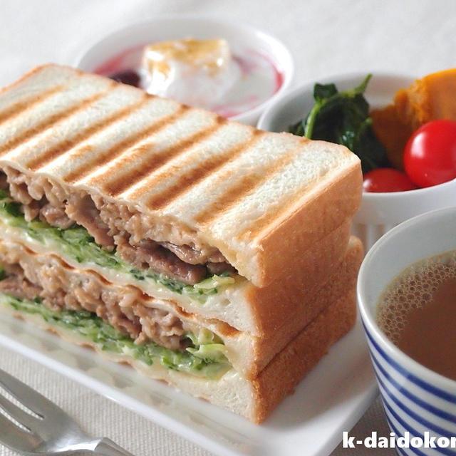 ゴーヤーと焼肉のサンドイッチで夏に溜まった疲れを癒します