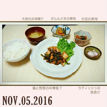 2016.11.05 鶏の中華風?