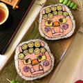 節分レシピ*かわいい鬼の飾り巻き寿司、恵方巻き ♪
