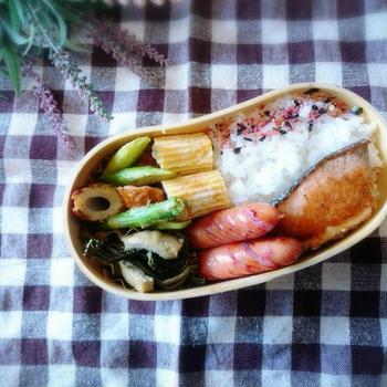 焼き鮭の和風弁当♪