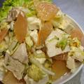 フロリダ産グレープフルーツで爽やか【白菜+タンパク質&ビタミンたっぷりサラダ】