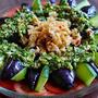 タップリのニラだれで食べるピリ辛風茄子の冷製サラダ