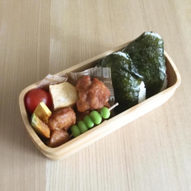 20191120Wed. お弁当と大阪の日の入り