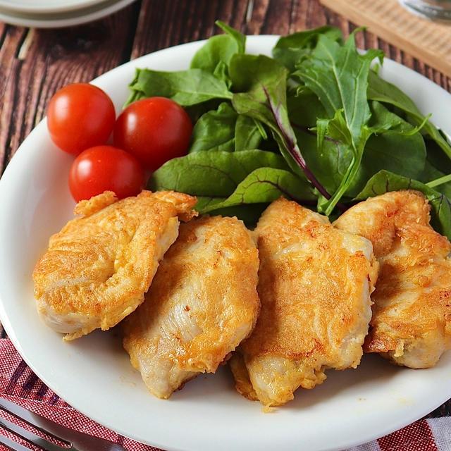 節約、簡単、子供に人気!鶏むね肉のチーズ入りピカタ!
