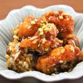 カラッと揚がった鶏肉にこってりソースでやみつき必至!油淋鶏<ユーリンチー>の作り方