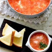 バルミューダ当たる♥旨味たっぷり♥ふんわり長芋と爽やかトマトのなめらか汁【#朝ごはん #夏ごはん #暑い日に嬉しい #朝スープ】10分