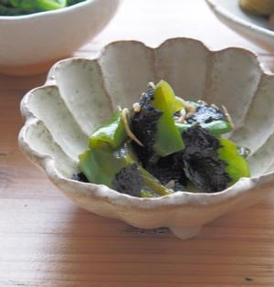 【レシピと献立】ピーマンとジャコの海苔甘酢和えと献立