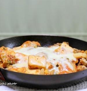 「豆腐豚キムチのチーズ焼き」&「佐渡で食べたお昼ご飯」