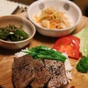 和風♪焼き肉丼のワンプレート。
