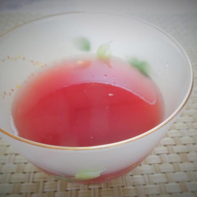 ◇りんごと赤ぶどうの寒天ゼリー