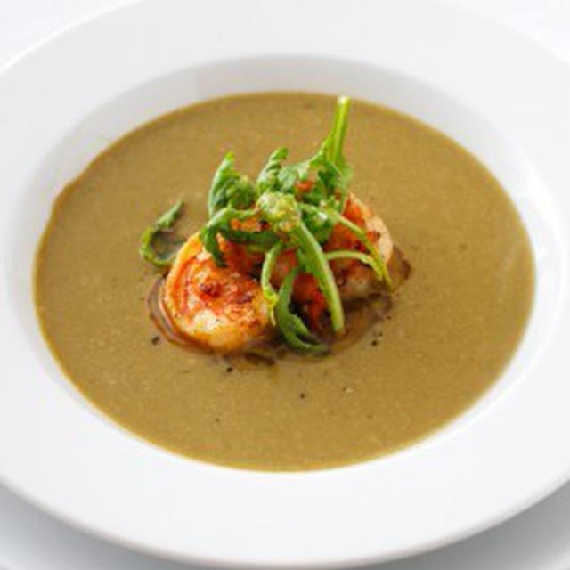 菊菜と海老のスープSOUPE AUX KIKUNA,CREVETTES