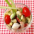 海老と野菜のカラフルパフェ
