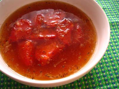 トマトの黒酢スープ