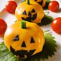 ハロウィンに☆チーズ包みおにぎりdeかぼちゃおばけ