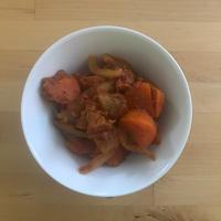 【レシピブログ】根菜のラタトゥイユ カレー風味 × 広島の赤