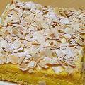 オレンジの四角いケーキ