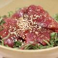 残業めし!漬けない『初鰹の海鮮丼』のレシピ*