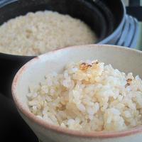 土鍋 de ふっくら玄米 (40min.)