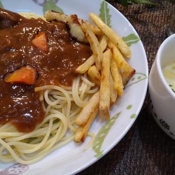 トロトロ牛肉のカレーパスタ
