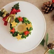 クリスマスリースのお寿司