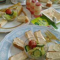 《レシピ有》アーラ ハーブ&スパイスクリームチーズトースト、次女予防接種、書き方教室。