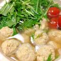 ふんわり柔らか*高野豆腐入り鶏団子と水菜の鍋