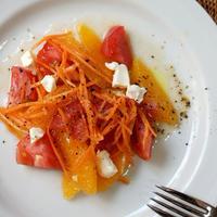 オレンジとトマトの爽やかサラダ