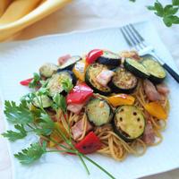 【米油部】まだまだ夏野菜が食べたい!ペペロンチーノ