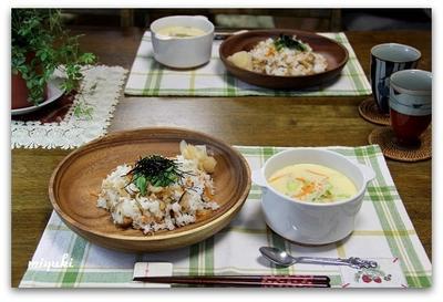 ちらし寿司&中華風茶碗蒸し 季節外れでしたこと