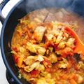 体調不良の味方【ライスポット】でサワーキャベツ入り鶏もも肉の無水カレー